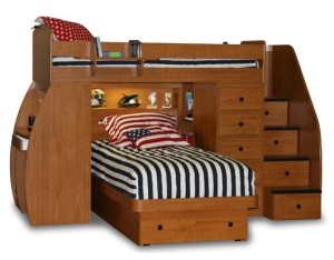 Berg Bunk Bed in chestnut