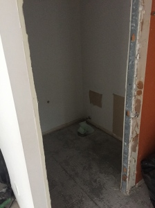 Powder room - equipment removed