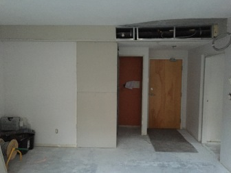 New entry way and smaller closet