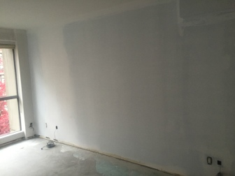 Our bedroom is dry-walled and primed